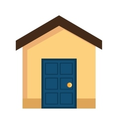 colorful house front view graphic vector image