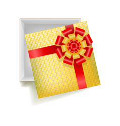 girtbox with square ornament vector image vector image