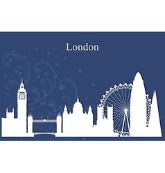 London city skyline silhouette on blue background vector image