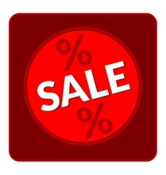 sale red button vector image