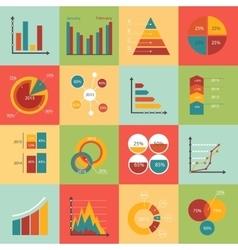 Set of business data market elements diagrams vector image