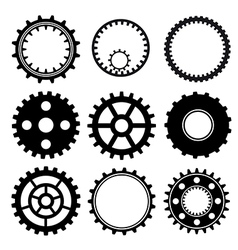 Set of gear wheels vector image vector image