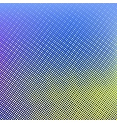 Blue yellow halftone background vector image vector image