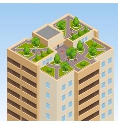 Green roofs roof garden eco roof Flat 3d vector image vector image