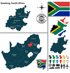 map of gauteng south africa vector image