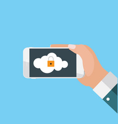 mobile apps concept mobile security in modern flat vector image