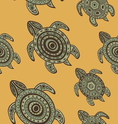 Seamless turtles background vector image vector image