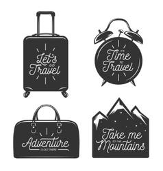 Travel typography set of design elements vector