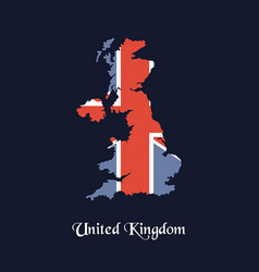 united kingdom map united kingdom map vector image vector image