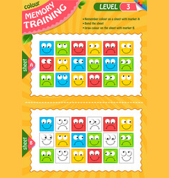 3 draw colour children adult level 3 vector image