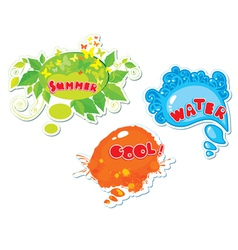 3 summer frames vector