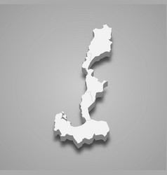 3d isometric map ilocos is a region of vector