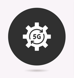 5g network - icon isolated vector