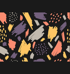 Abstract aesthetic hand drawn brush strokes spot vector