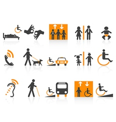 Accessibility icons set vector