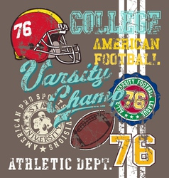 american Football varsity vector image