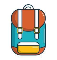 Backpack schoolbag icon cartoon style vector