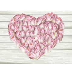 Beautiful flower frame in heart shape EPS 10 vector