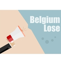 Belgium lose Flat design business vector image