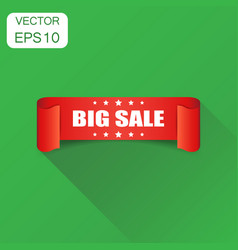 big sale ribbon icon business concept discount vector image