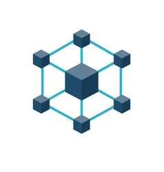 Blockchain icon vector