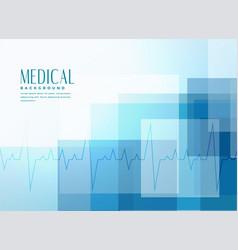 Blue healthcare medical banner background vector