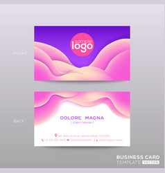 business card with abstract violet background vector image