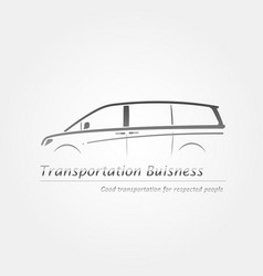 business card with minivan vector image