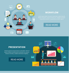 Business showcase presentation banners vector