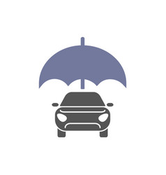 car insurance sign icon protection symbol vivid vector image