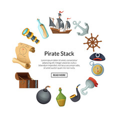 cartoon sea pirates vector image