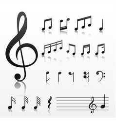 Collection music note symbols vector