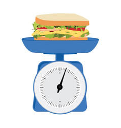 Concept of weight loss unhealthy lifestyles fast vector