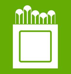 crayons icon green vector image