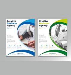 Creative business agency flyer template modern vector