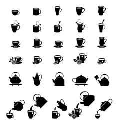 Cups for coffee and tea vector image