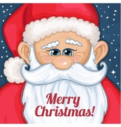 Cute cartoon Santa Claus with Christmas greetings vector image vector image