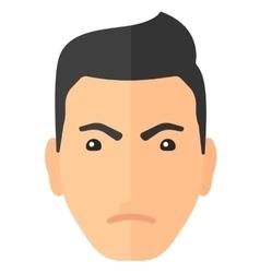 Detesting angry man vector image