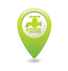 Drinking water GREEN map pointer vector