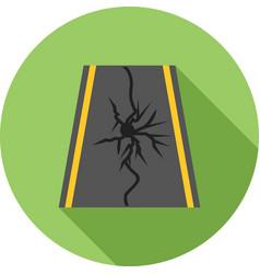 Earthquake on road vector