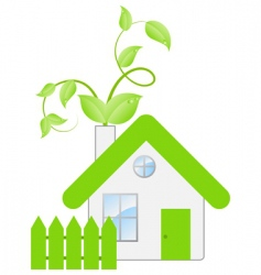 eco house concept vector image