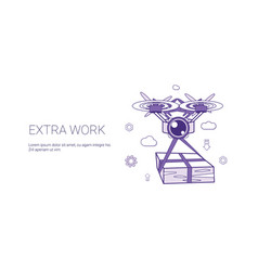 extra work overloading worker template web banner vector image