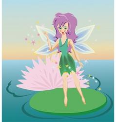 fairy cartoon vector image vector image