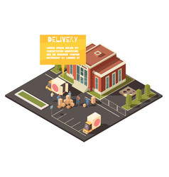 fast delivery service concept vector image