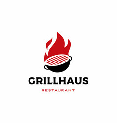 Fire grill logo icon vector