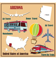 Flat map of Arizona vector image