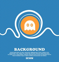 Ghost icon sign Blue and white abstract background vector image