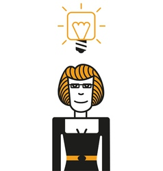 good idea woman vector image