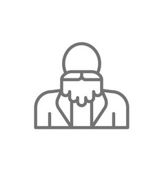 grandfather old man with a beard pensioner vector image