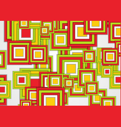 green yellow and red squares abstract geometric vector image